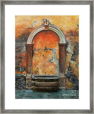 Ancient Italian Fountain Framed Print by Charlotte Blanchard