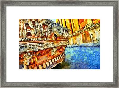 Ancient Remembrances - Da Framed Print by Leonardo Digenio
