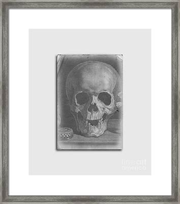Ancient Skull Tee Framed Print by Edward Fielding