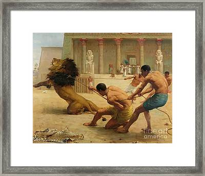 Ancient Sport Framed Print by George Goodwin