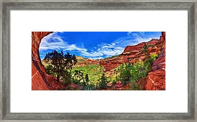 Ancient Vision - Boynton Canyon Framed Print by Bill Caldwell -        ABeautifulSky Photography