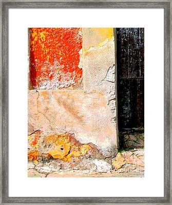 Ancient Wall 4 By Michael Fitzpatrick Framed Print by Mexicolors Art Photography