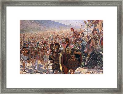 Ancient Warriors Framed Print by Georges Marie Rochegrosse