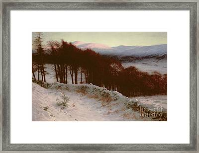 And All The Air A Solemn Silence Holds Framed Print by Joseph Farquharson