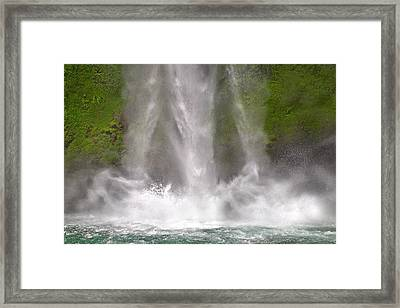 And Down Comes The Water Framed Print by Betsy C Knapp
