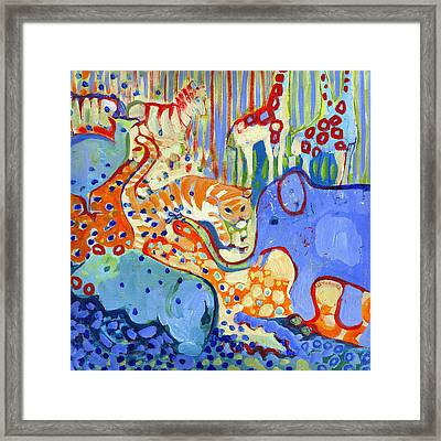 And Elephant Enters The Room Framed Print by Jennifer Lommers