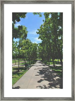 And I Saw You Sitting There Framed Print by Laurie Search