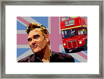 And If A Double Decker Bus Framed Print by Mal Bray