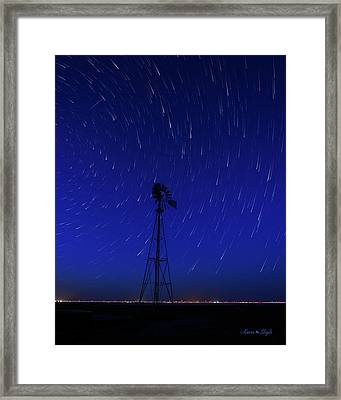 And The Stars Rained Down Framed Print by Karen Slagle