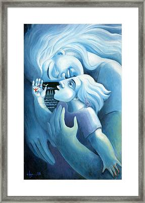 And Then Framed Print by Angela Treat Lyon
