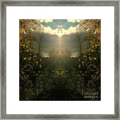 And Then The Heavens Opened Framed Print by Scott D Van Osdol