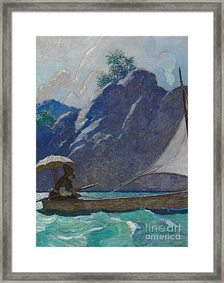 And Thus I Every Now And Then Took A Little Voyage Upon The Sea Framed Print by Newell Convers Wyeth
