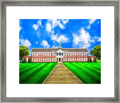 Old Main - Andalusia High School Framed Print by Mark E Tisdale