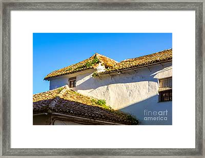 Andalusian Roofs Framed Print by Lutz Baar