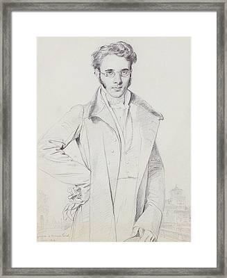 Andre-benoit Barreau, Dit Taurel Framed Print by Jean Auguste Dominique Ingres