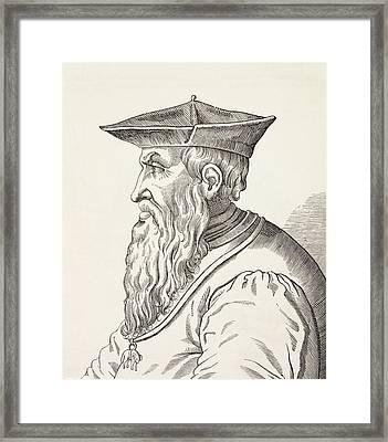 Andrea Doria, 1466-1560. Italian Framed Print by Vintage Design Pics