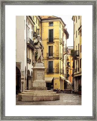 Andrea Palladio Statue Framed Print by Prints of Italy
