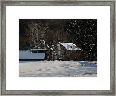 Andrew Wyeth Estate In Winter Framed Print by Gordon Beck