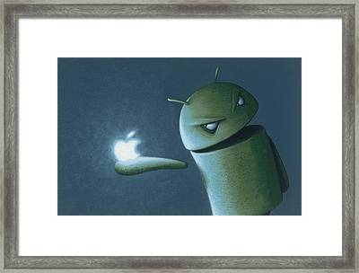 Android Vs Apple Framed Print by Jasper Oostland