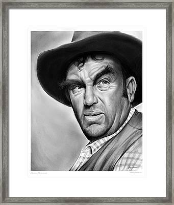 Andy Devine Framed Print by Greg Joens
