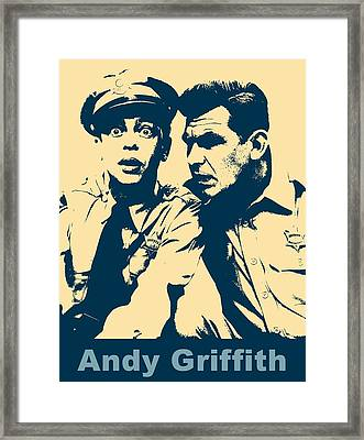Andy Griffith Poster Framed Print by Dan Sproul