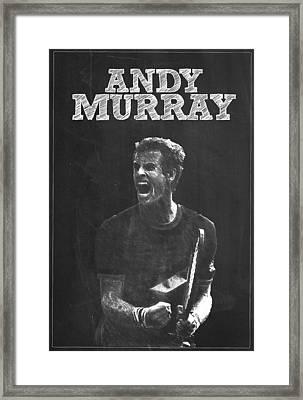 Andy Murray Framed Print by Semih Yurdabak