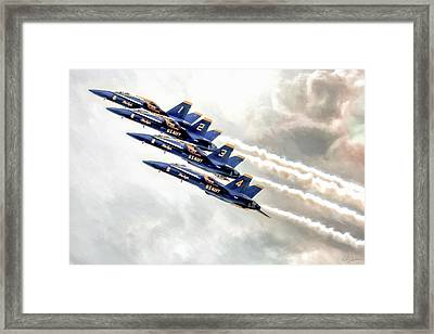 Angel Ascent Framed Print by Peter Chilelli