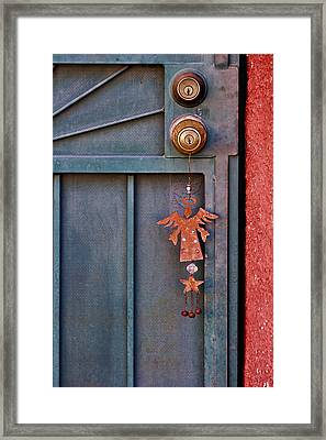 Angel At The Door Framed Print by Carol Leigh