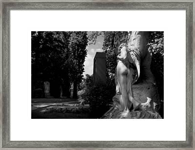 Angel At The Grave Framed Print by Marc Huebner