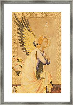 Angel Gabriel  Framed Print by Simone Martini