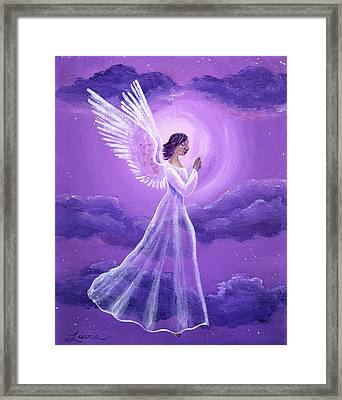 Angel In Amethyst Moonlight Framed Print by Laura Iverson