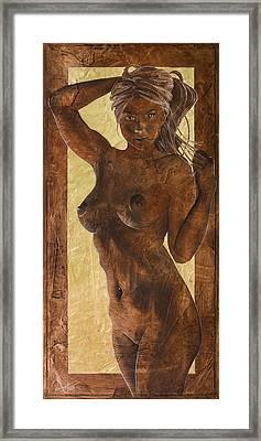 Angel In Gold Framed Print by Richard Hoedl