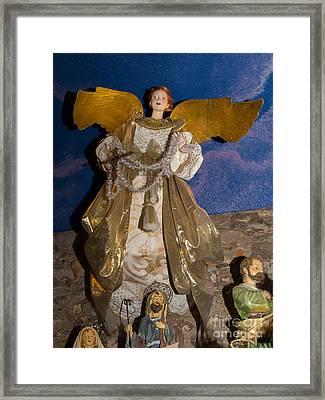 Angel In Petaluma California Usa Dsc3766 Framed Print by Wingsdomain Art and Photography