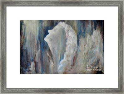 Angel In Soft Pastel Framed Print by Cathy Weaver