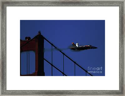 Angel In The Night Framed Print by Wingsdomain Art and Photography