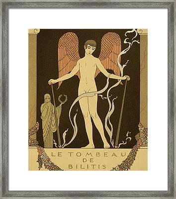 Angel Le Tombeau De Bilitis Framed Print by Georges Barbier