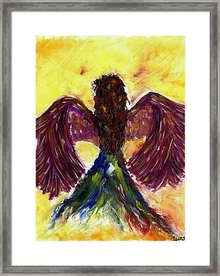 Angel Framed Print by Leena Kewlani