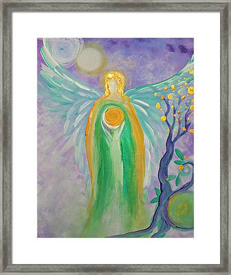 Angel Of Acceptance Framed Print by Alma Yamazaki