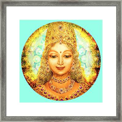 Angel Of Beauty In Turquoise Framed Print by Ananda Vdovic