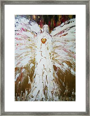 Angel Of Divine Healing Framed Print by Alma Yamazaki