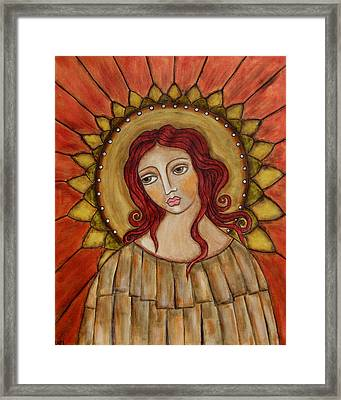 Angel Of Nature Framed Print by Rain Ririn