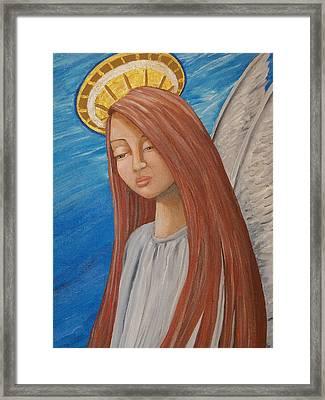 Angel Of Sorrow Framed Print by Jacklyn Marie Adelfio