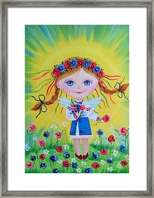 Angel Of The Sun Framed Print by Olha Darchuk