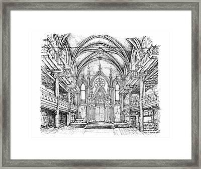 Angel Orensanz Center In Nyc Framed Print by Adendorff Design