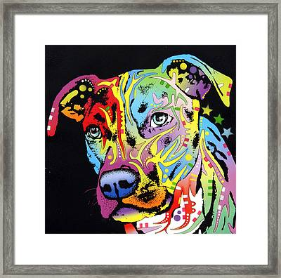 Angel Pit Bull Framed Print by Dean Russo