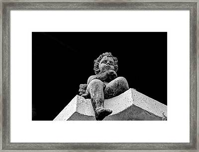 Angel Statue Framed Print by Toppart Sweden