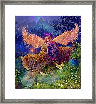 Angel Tarot Card Angel Fairy Dream Framed Print by Steve Roberts
