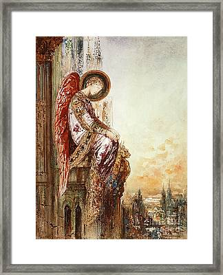 Angel Traveller Framed Print by Gustave Moreau