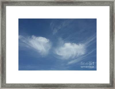 Angel Wings In The Sky Framed Print by Carol Groenen