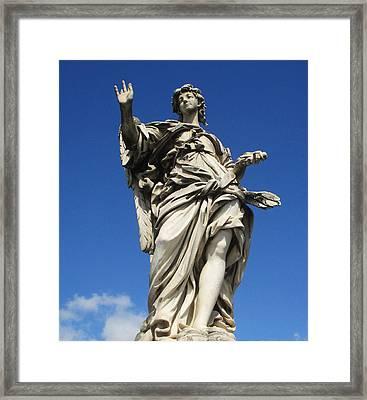 Angel With Nails Framed Print by Leena Kewlani
